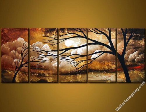 Modern Canvas Art Wall Decor Landscape Oil Painting