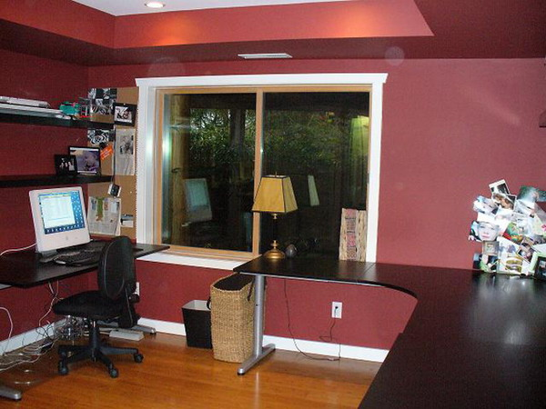 Modern Red Home Office Paint Color Design Picture