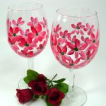 More Hand Painted Wine Glasses