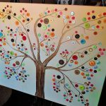 Old Paintings Canvas And Paint Solid Color Draw The Tree