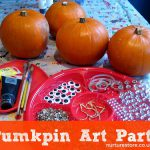 Our Pumpkin Decorating Station Included Acrylic Paint Glitter Stick