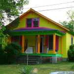 Paint Crazy Colored House Person