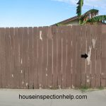 Paint Damaged Wood Fencing