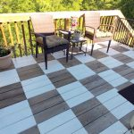 Paint Fabulous Patio Floor Checkerboard Sweet Parrish