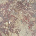 Paint Splattered Concrete Floor