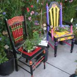 Painted Chairs The Garden