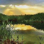 Painted Pond Wall Mural Umb