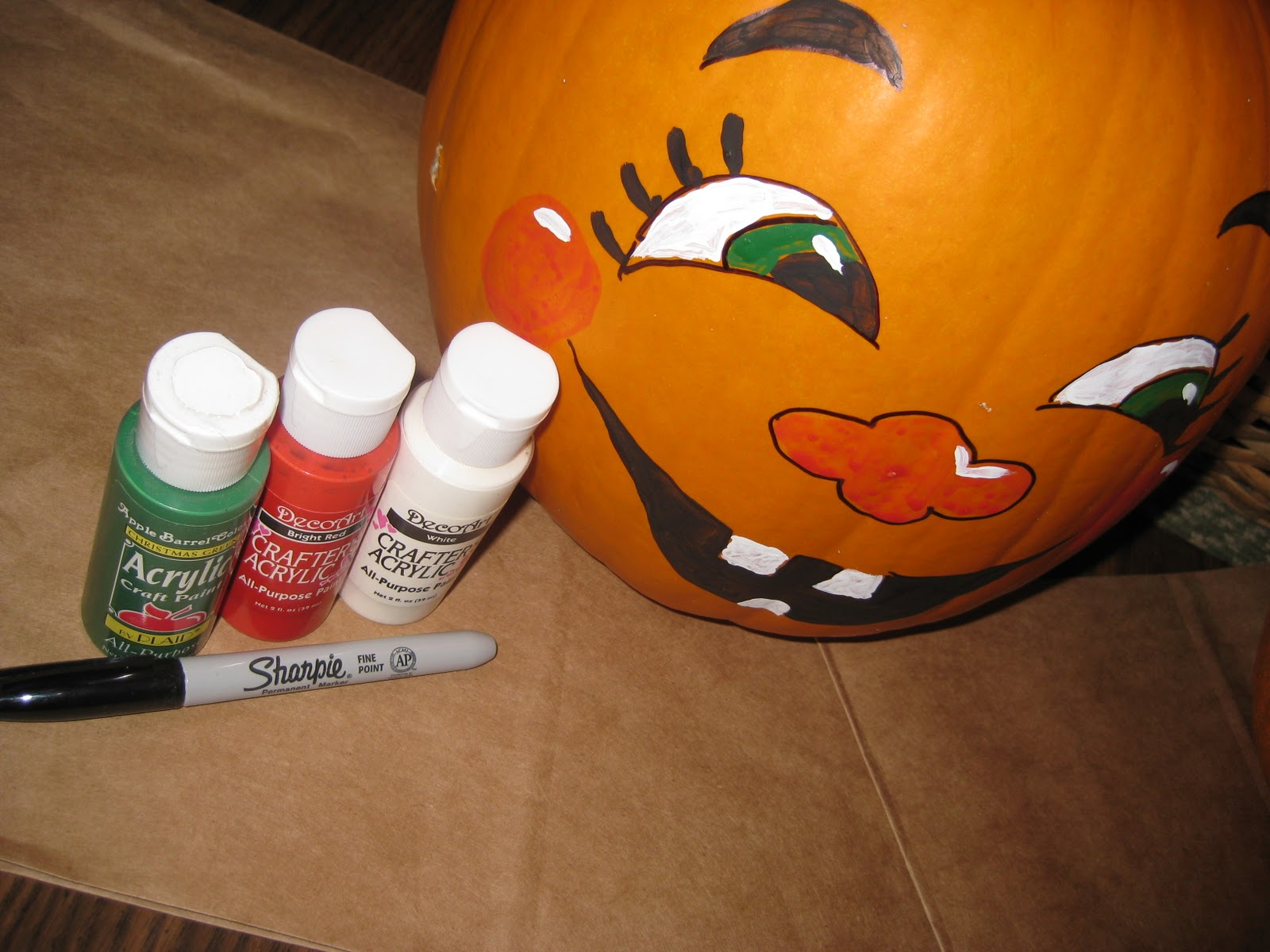 Painted Pumpkin Faces