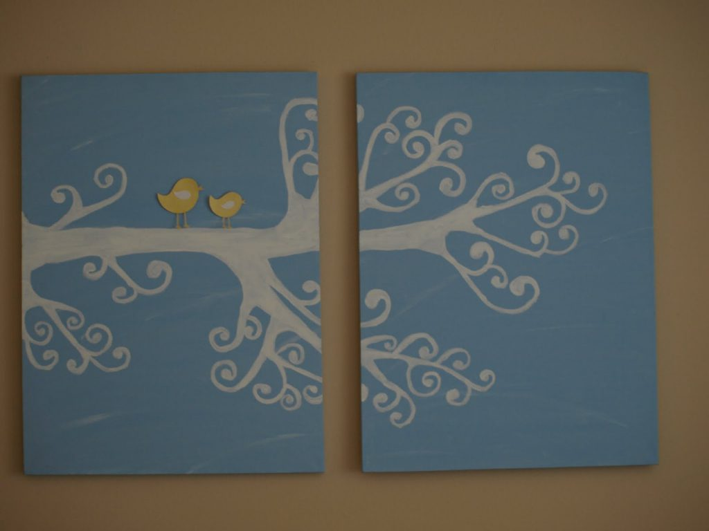 Painted The Canvas Light Blue That Liked