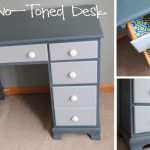 Painted Two Toned Desk Tips Painting Furniture