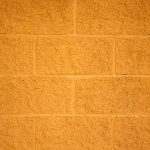 Painted Yellow Cinder Block Wall Texture Free High Resolution