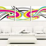 Painting Abstract Color Home Decorative Art Picture Paint Canvas