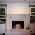 Painting Brick Fireplace From White Beautiful Brownstone