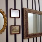Painting Stripes Mirror Walls Ideas