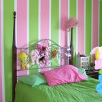 Painting Stripes Walls Ideas Green Bedsheet