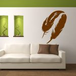 Pair Large Feathers Vinyl Wall Art Decal Sticker
