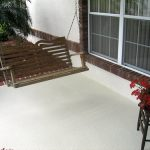 Patio Floor Tex Coating Application Finished
