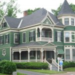 Patterned Wood Shingles Give Texture The Siding This Queen Anne