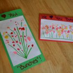 Popcorn Painting Mother Day Cards Crafts