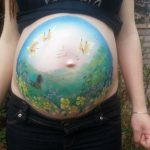 Pregnant Belly Bump Painting