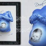 Pregnant Belly Cast Hand And Painting Beautiful