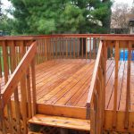 Professional Deck Staining Fence