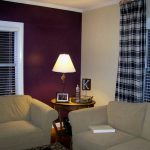 Purple Living Room Painting Techniques