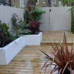 Raised Beds Painted White Decking Stone Paint Colour Fences Modern