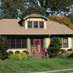 Red And Green Accent Exterior Paint Craftsman Style House