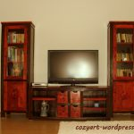 Red Hand Painted Living Room Furniture Cozy Art