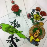 Reverse Glass Painting Designs