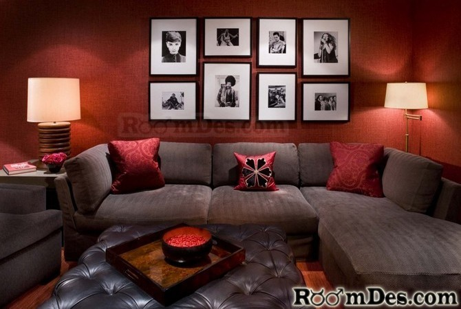 Room Closeout Living Furniture Red Painted Rooms Leather