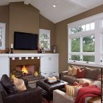 Room Theme Color Ideas Livingroom Modern Fireplace Interior