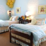 Room Twin Beds And Stencils For Furniture Wall Painting