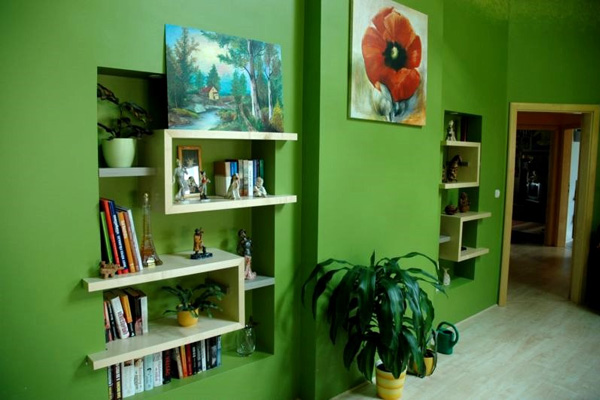 Rooms Painted Green Slodive Inspiration Living Room Paint