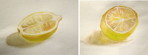 Simple Watercolor Painting Exercise Lemon From Life