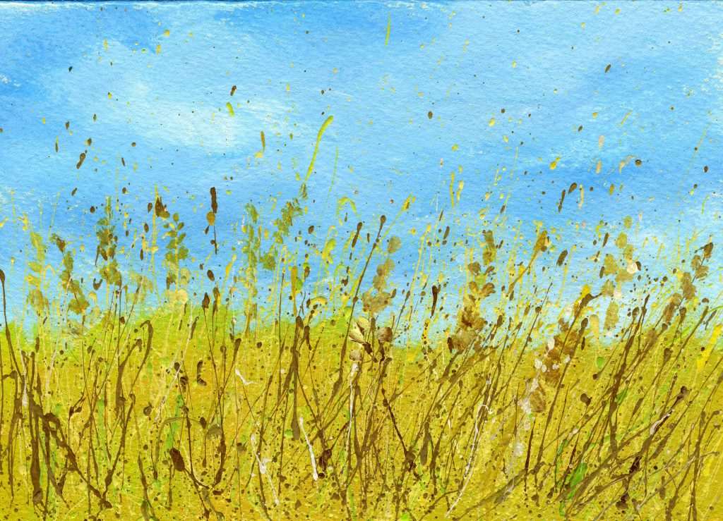 Splattered Paint Flower Art Ideas Wheat Field Myflowerjournal