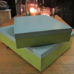 Spray Paint Cardboard Boxes