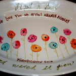 Teacher Gift The Flowers Are Fingerprints Traced Around