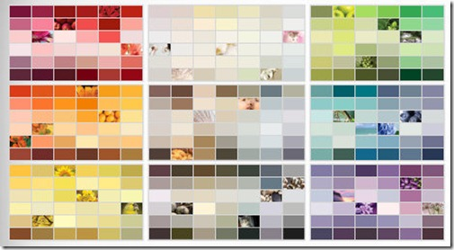 The Colors Available Glidden Color Palette