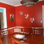 The Red Dining Room Was One Very Few Rooms Have Not