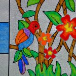 This Panels Designed For Ceilings The Colorful Birds