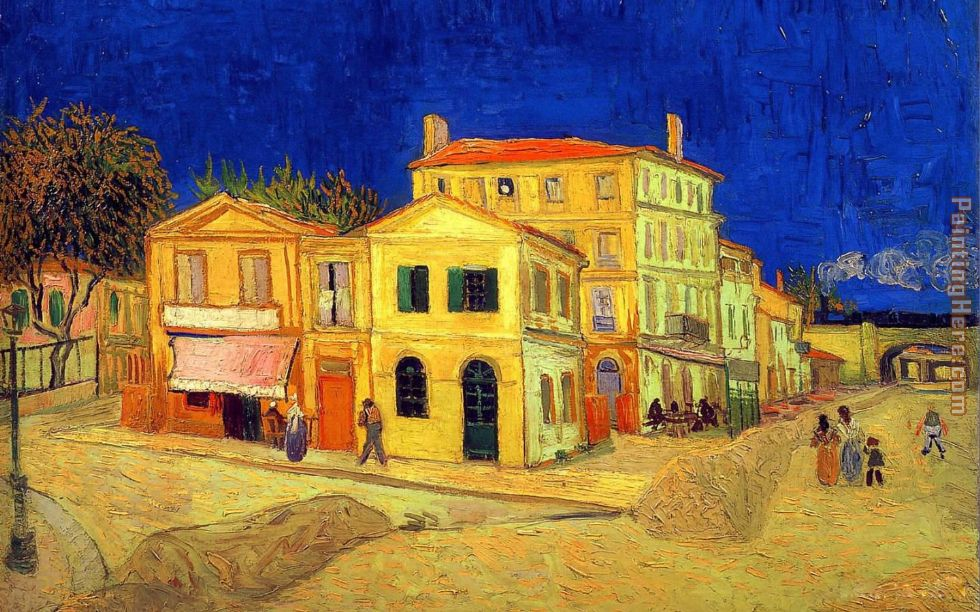 Vincent Van Gogh The Yellow House Painting
