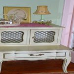 Vintage French Cottage Night Stand Table Shabby Chic Painted Furniture
