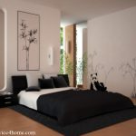 Wall Painting Design And Black Rug Best Choice
