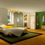 Wall Painting Designs For Bedrooms Wonderful Green And Yellow