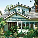White And Blue Green Exterior Paint Craftsman Style Bungalow
