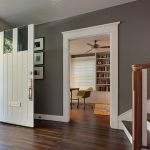 White And Grey Contrast For Hallway Walls Painting