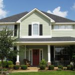 White Green Exterior Paint Pictures