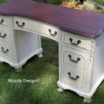 White Home Plate Dollar Bill Chalk Clay Painted Vanity Desk Ideas